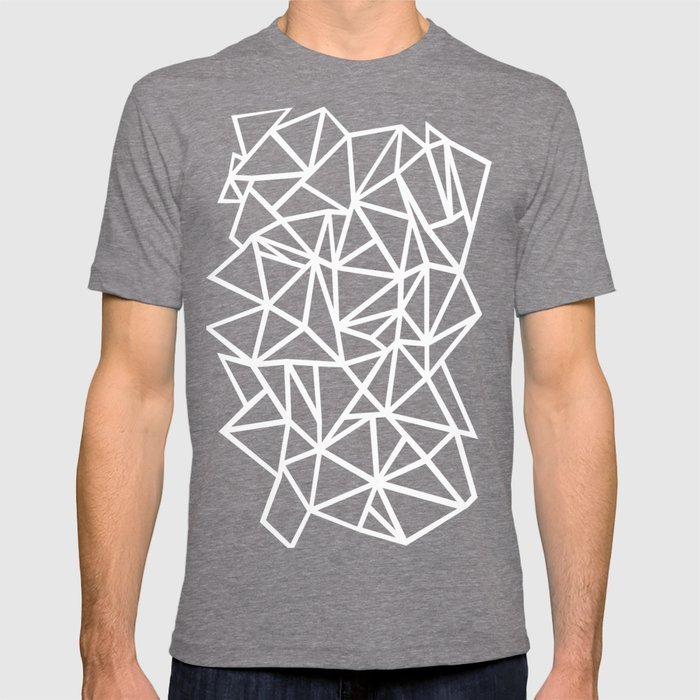 a97d07cfdb38 Abstract Outline Thick White on Black T-shirt by projectm | Society6