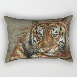 Tiger background Rectangular Pillow