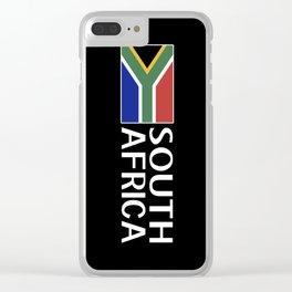 South Africa: South African Flag & South Africa Clear iPhone Case