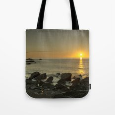Ilfracombe beach Sunset Tote Bag