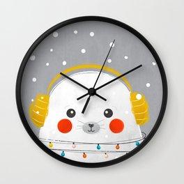 Christmas Baby Seal Wall Clock