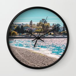 I see an island. Wall Clock