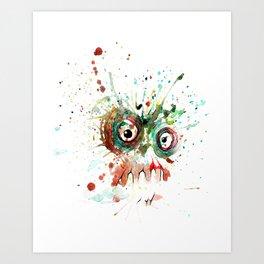buzzed zombie Art Print