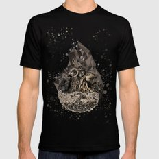 When nature strikes back  Mens Fitted Tee MEDIUM Black