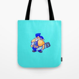Cute hamster handy-man Tote Bag