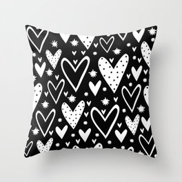 Heart symbol text Throw Pillow
