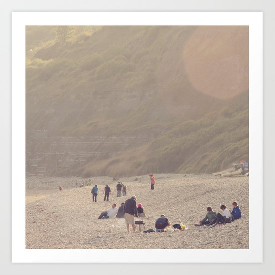 sandy sausages by the sea shore... Art Print