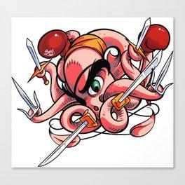 Fighting Octopus Canvas Print