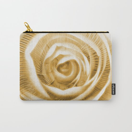 Rose & Fractal Carry-All Pouch