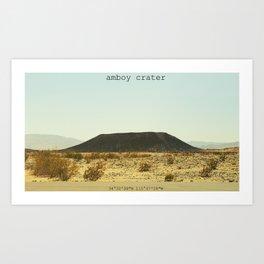 Amboy Crater Art Print