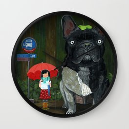 """My French Bull Chubu""  Wall Clock"