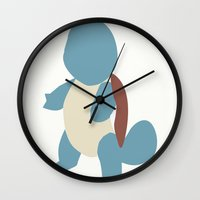 squirtle Wall Clocks featuring Squirtle by Kaylabeaisaflea