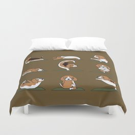 Beagle Yoga Duvet Cover