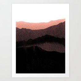 igneous rocks 3 / dusk edit Art Print