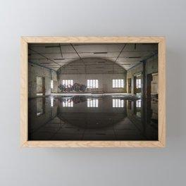 Interior of an abandoned factory Framed Mini Art Print