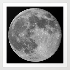 Supermoon of June 2013 Art Print
