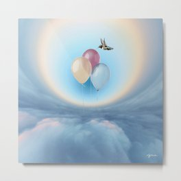 Ballons in the sky Metal Print
