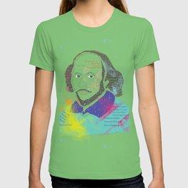 Portrait of William Shakespeare-Hand drawn T-shirt