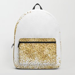 Sparkling golden glitter confetti effect Backpack