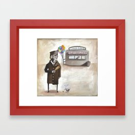 Alferd Packer's Uneaten Corn Dog Framed Art Print