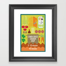 Lemongrass Chicken Soup Framed Art Print