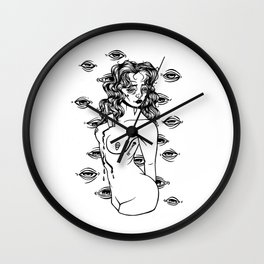 stab in the chest Wall Clock