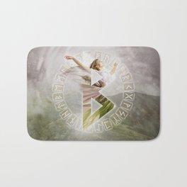 Berkana Rune  Digital Art Collage Bath Mat