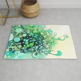 Visible Connections - Watercolor and Pen Art Rug