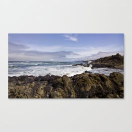 Oceanic Tumult at Lincoln City Jetty along the Oregon Coast Canvas Print