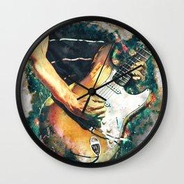 John Frusciante's electric guitar Wall Clock