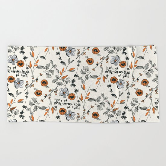 Floral pattern Flowers Beach Towel