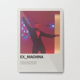 Ex Machina Minimal Movie Poster No 01 Metal Print