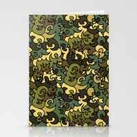military Stationery Cards featuring Military pattern. by Julia Badeeva