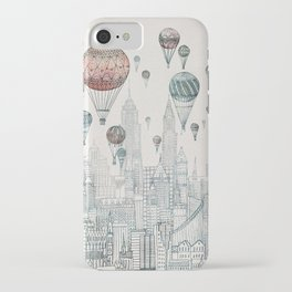 Voyages Over New York iPhone Case