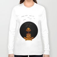spiritual Long Sleeve T-shirts featuring Spiritual AfroGirl by Pweety Sexxay