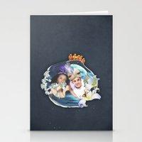 aladdin Stationery Cards featuring Aladdin & Jasmine by FarbCafé