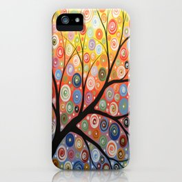 Abstract Art Landscape Original Painting ... Reaching For the Light iPhone Case
