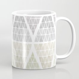 Stacked Triangles - Neutral Coffee Mug