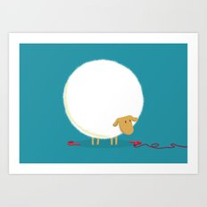 Fluffy Sheep Art Print