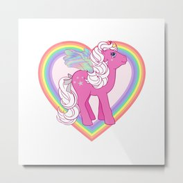 g1 my little pony Flutter Hollywood Metal Print