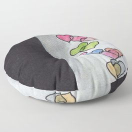 Periscope Hearts Floor Pillow