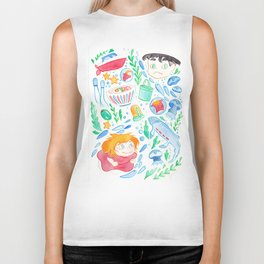 The Goldfish Girl Biker Tank
