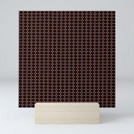 Heart flower pattern Mini Art Print