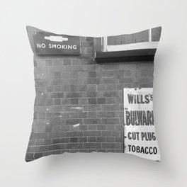 Vintage Railway Signs Black & White Throw Pillow