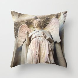 Smile of Reims Throw Pillow