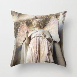 Smile of Reims Throw Pillow