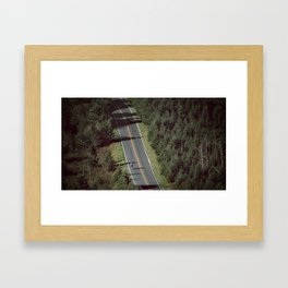 Mt. Mitchell Bike Ride Framed Art Print