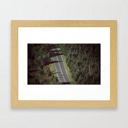 Mt. Mitchell Bike Ride Framed Art Print