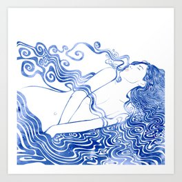 Water Nymph LXVII Art Print