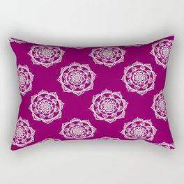 Mandalas on Pink Rectangular Pillow